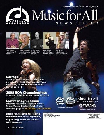 Music for All Newsletter - January/February 2008