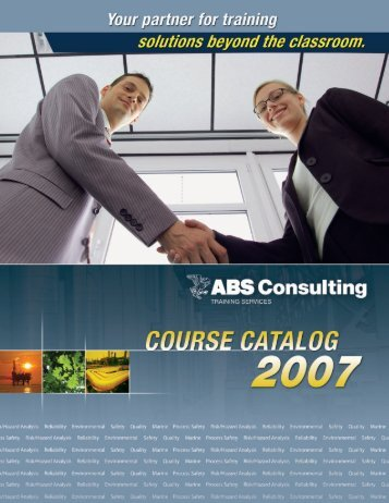 Download the 2007 Course Catalog - ABS Consulting