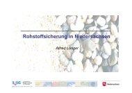 Rohstoffsicherung in Niedersachsen - Vero