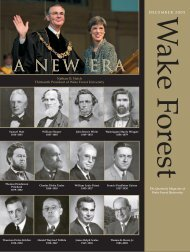 Wake Forest Magazine, December 2004 - Past Issues - Wake Forest ...