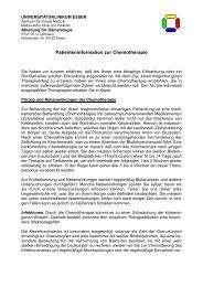 Patienteninformation zur Chemotherapie - Bronchialkarzinom ...