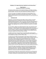 feasibility of using high rap - Australian Asphalt Pavement Association