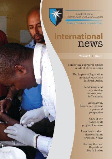 International News RCOG - Workforce and Education