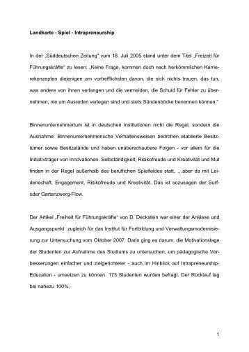 Spiel - Intrapreneurship In der - Intrapreneurship-in-der-verwaltung.de
