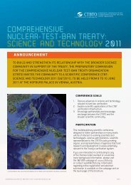 conference brochure - Comprehensive Nuclear-Test-Ban Treaty ...