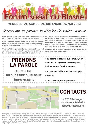 contacts - Contacter un comité local d'Attac