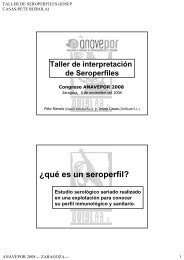 Interpretación de perfiles serológicos.