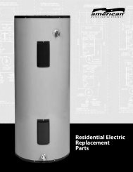 Residential Electric Replacement Parts - American Water Heaters