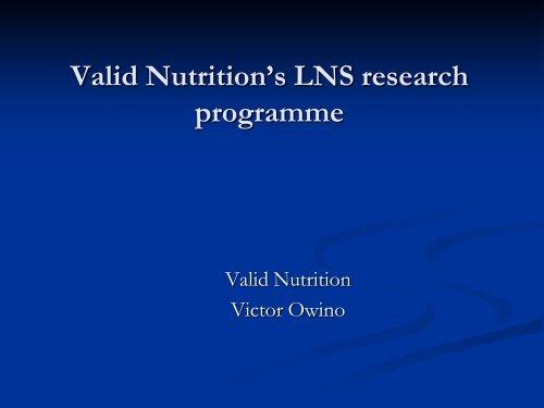 Valid Nutrition