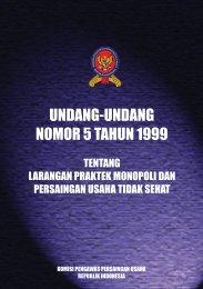UU NO 5 Tahun 1999 edit 2007 - KPPU