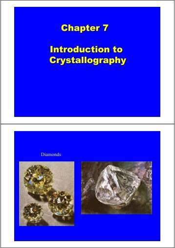 Chapter 7 Introduction to Crystallography