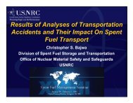 Results of Analyses of Transportation Accidents and ... - RAMPAC