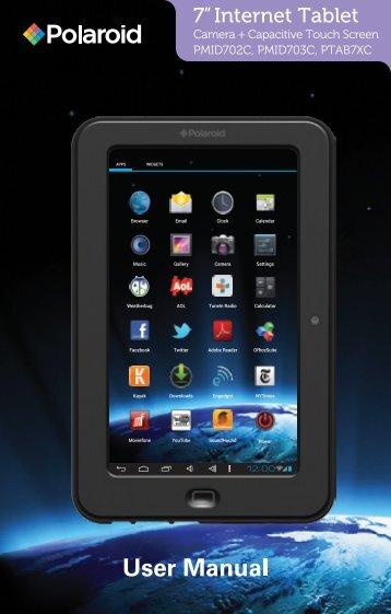 Polaroid PTAB7XC Tablet Manual