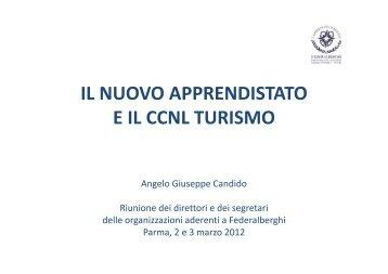 IL NUOVO APPRENDISTATO E IL CCNL TURISMO - Federalberghi
