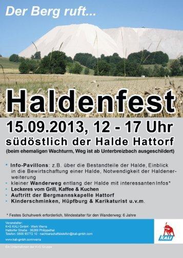 Flyer Haldenfest Werra - Werratal