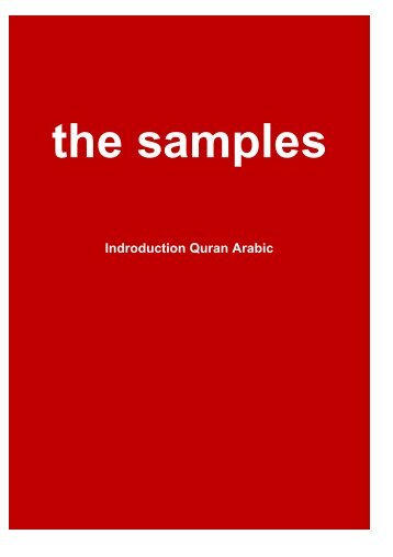 The book of Sapmles