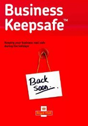 Business Keepsafe™ application form - Royal Mail