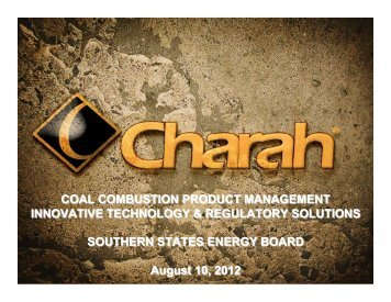 Coal Combustion Product Management: Innovative Technology and ...