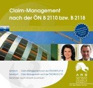 Claim-Management nach der ÖN B 2110 bzw. B ... - Willheim | Müller