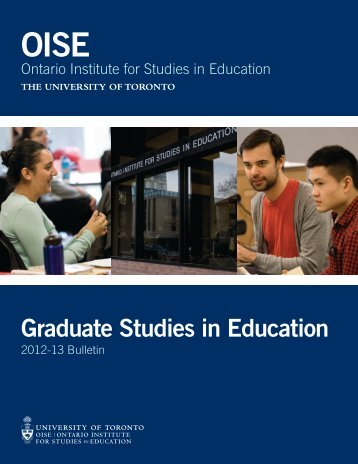 2012 for 2013 - University of Toronto