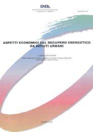 Aspetti Economici del Recupero Energetico da Rifiuti Urbani - Enea
