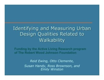 Identifying and Measuring Urban Design Qualities Related to ...