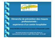 Démarche de prévention des risques professionnels - Parhtage santé