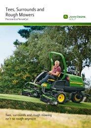 Tees, Surrounds and Rough Mowers Brochure - John Deere