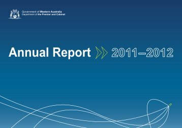 Department of the Premier and Cabinet Annual Report 2011-2012