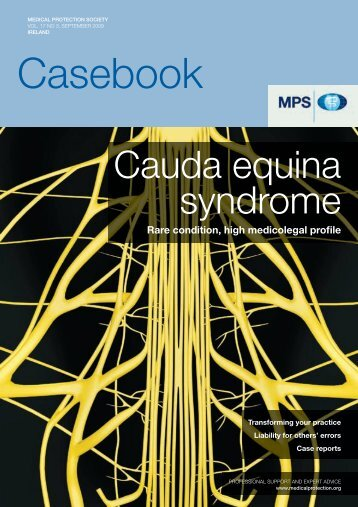 to view this edition of Casebook as a PDF - Medical Protection Society