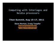 Computing with Interlagos and Nvidia processors