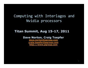 Computing with Interlagos and Nvidia processors