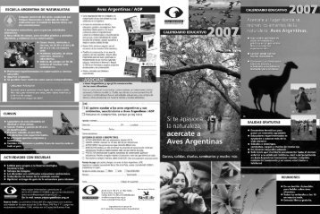 ESCUELA ARGENTINA DE NATURALISTAS - Aves Argentinas