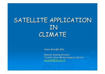 satellite application in climate - RTC, Regional Training Centre ...
