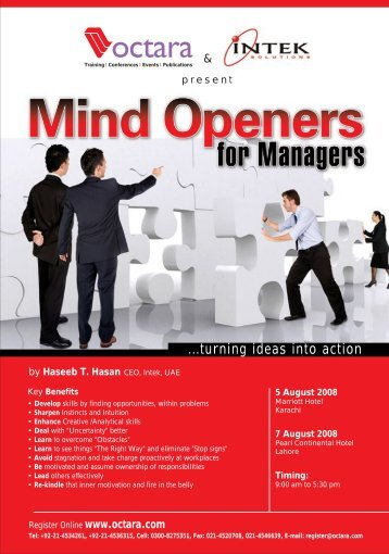Mind Openers For Managers - Octara.com