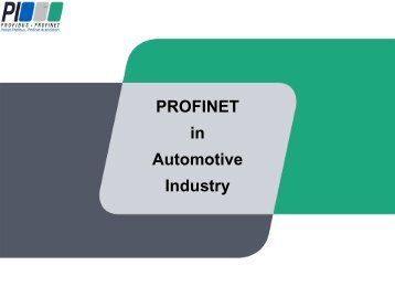 PROFINET IO - ARC Advisory Group