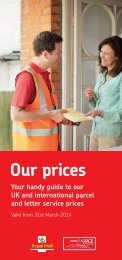 Our prices 2013 - Royal Mail