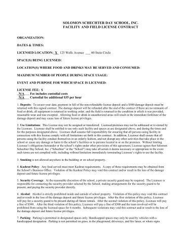 Sample Rental Agreement  Spanish Village Art Center