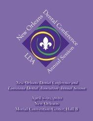 Registration Book 10-forweb.indd - Louisiana Dental Association