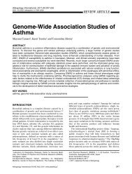 Genome-Wide Association Studies of Asthma - Allergology ...
