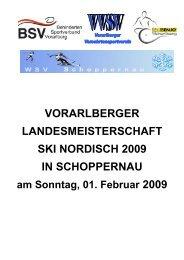 vorarlberger landesmeisterschaft ski nordisch 2009 in schoppernau