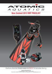 New Zealand 2013 RRP PRICELIST - Scuba Steve Wanaka