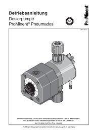 Betriebsanleitung Dosierpumpe ProMinent® Pneumados