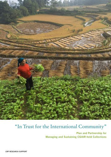 """""""In Trust for the International Community"""" - Library - cgiar"""