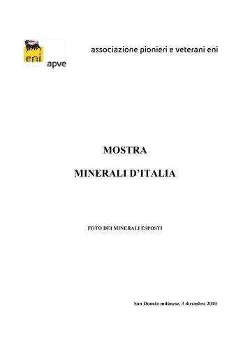 foto mostra minerali_bacheca 3 - associazione pionieri e veterani eni