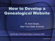 How to Develop a Genealogical Website - Austrian Family History