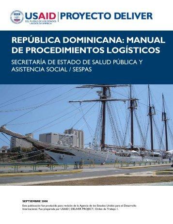 república dominicana: manual de procedimientos logísticos