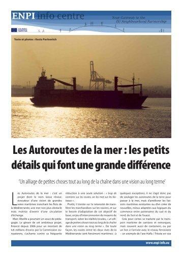 Motorways of the Sea feature.pdf - EU Neighbourhood Info Centre