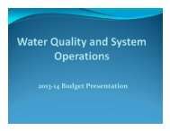 2013-14 Budget Presentation - Helix Water District