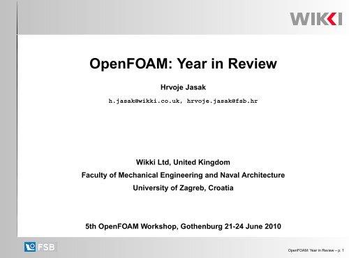 OpenFOAM: Year in Review